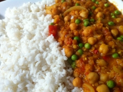 chickpea dhal with rice