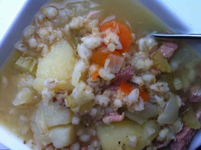 scotch broth made with a gammon joint